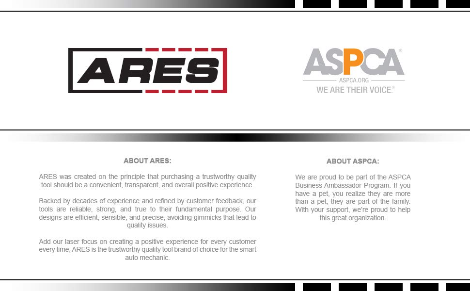 ARES Tool is a proud ASPCA Supporter