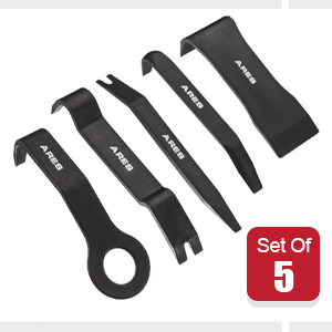 5-Piece Non-Marring Auto Trim Removal Prybar Set helps Remove internal and external Trim with Ease