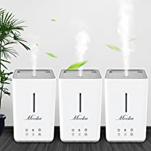 humidifier with adjustable mist level for small, medium and large rooms
