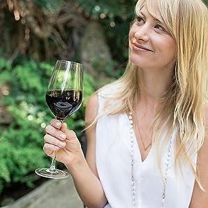 Hand Blown Crystal Wine Glasses - Bella Vino - HK Shared Dream