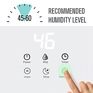 Humidity control function of mooka Ultrasonic Air Humidifier