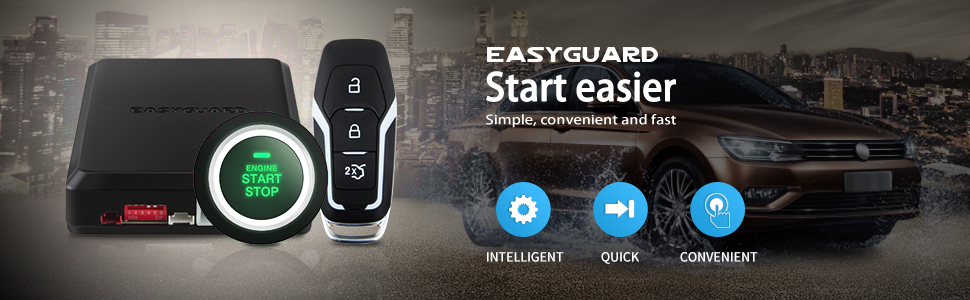 ltd EASYGUARD ES002-P2 Engine Start Button,Remote Start Optional for Automatic Shift Car,Can Work with Original Key DC12V Easyguard Electronics co