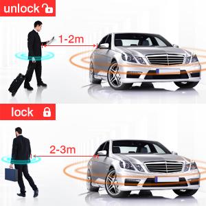 Automotive EASYGUARD EC002 Smart Key RFID PKE Car Alarm