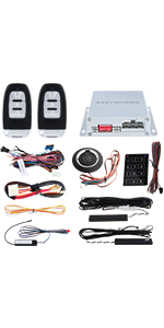 Amazon.com: EASYGUARD 2 Way Car Alarm System EC200-K9 with ...