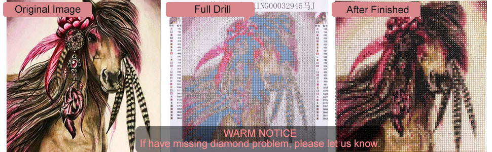 Brilliant 5d Diy Diamond Wall Cherry Blossom Horse Painting Embroidery Sticker Picture Full Square Drill Cross Stitch Bead Work Home Decor Terrific Value Diamond Painting Cross Stitch Needle Arts & Crafts