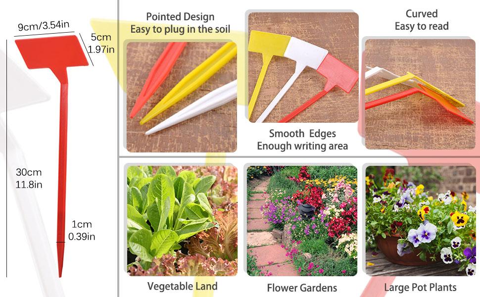 1Pc Multiuse Plastic Plant Markers T-type Tags Waterproof Nursery