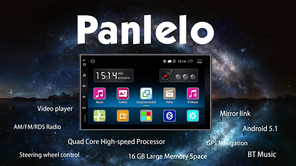 Amazoncom Panlelo PAYZ Android Car Stereo Inch Din - Cool car radios