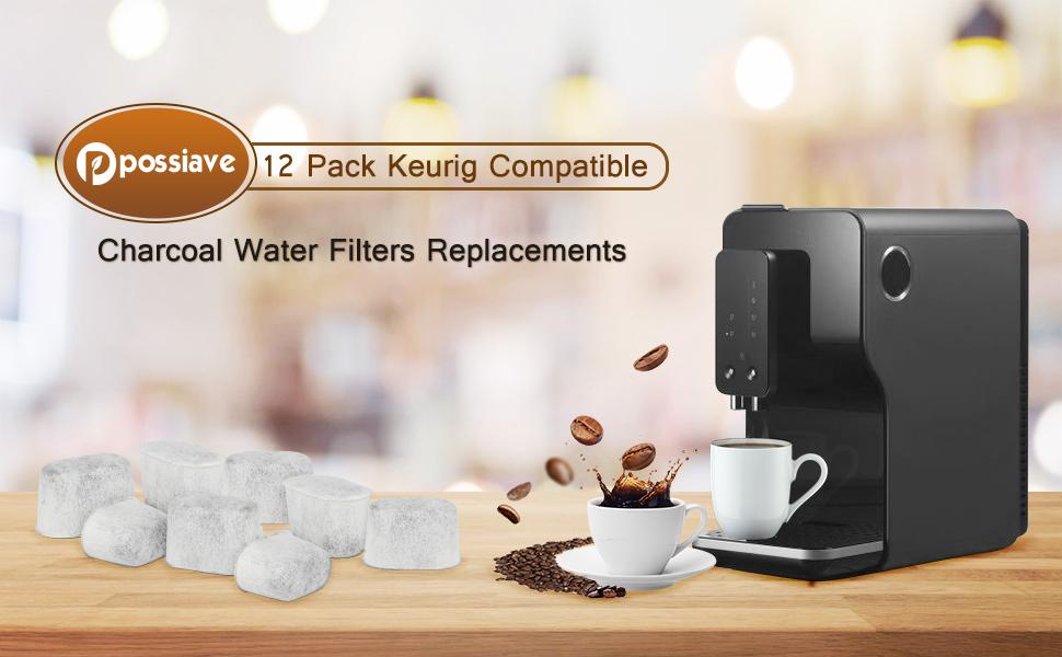 12 Pack Keurig Charcoal Water Filters