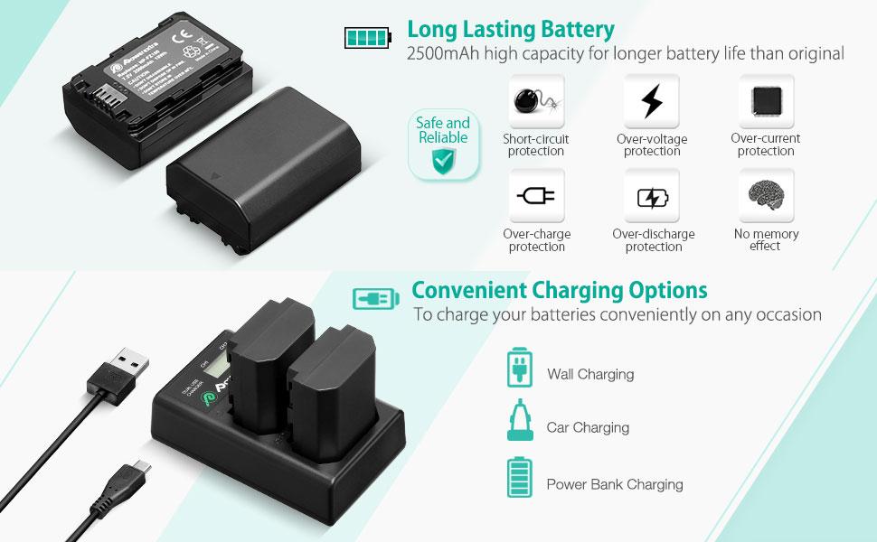 Amazon.com: Powerextra Batería de repuesto Sony NP-FZ100 ...