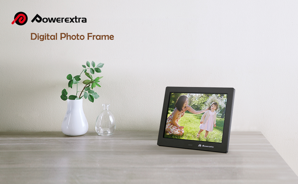 Amazon.com : Powerextra 8 inch Digital Photo Frame HD Video Frame ...