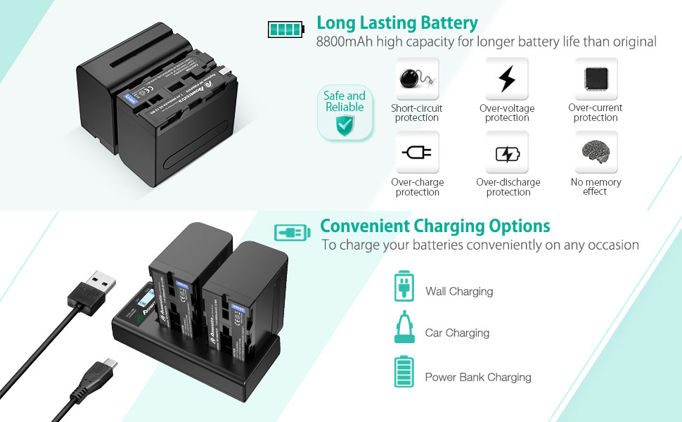 sony np-f970 battery and charger