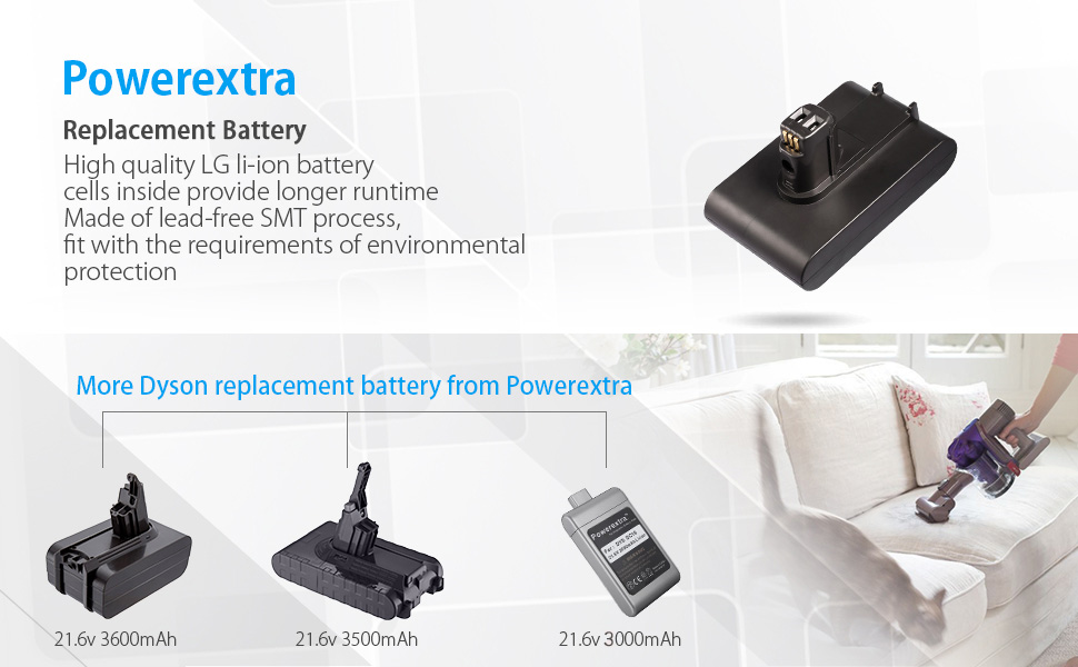 powerextra 22 2v 3000mah replacement battery compatible with dyson rh amazon com