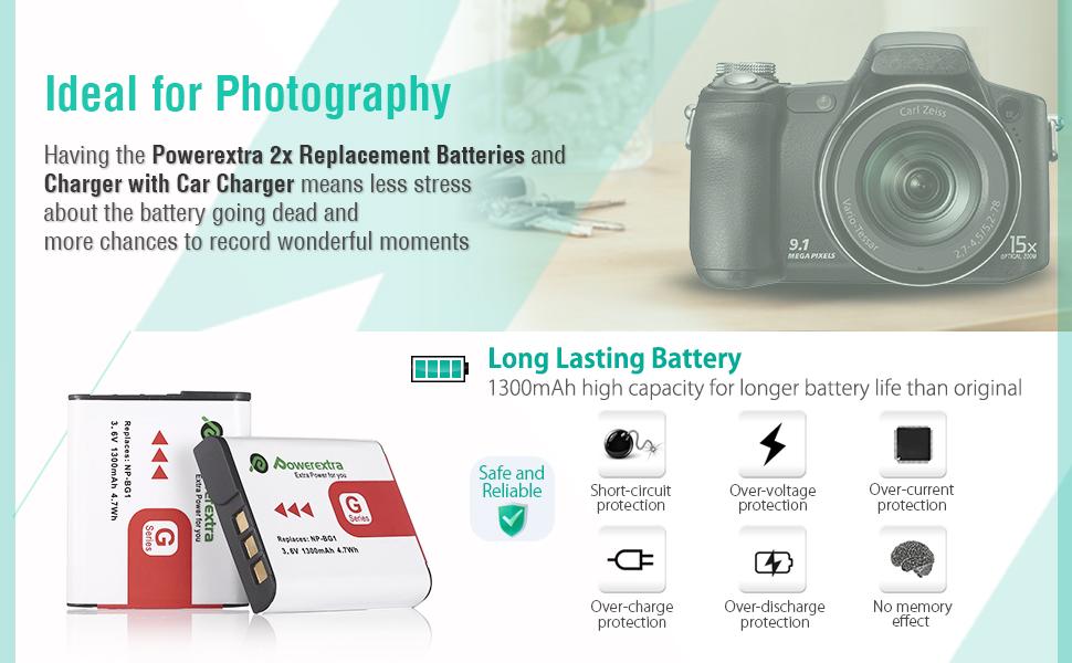 Sony np-bg1 Cyber-shot dsc h55 DSC h70 DSC h90 DSC hx10v de DSC Premium batería F