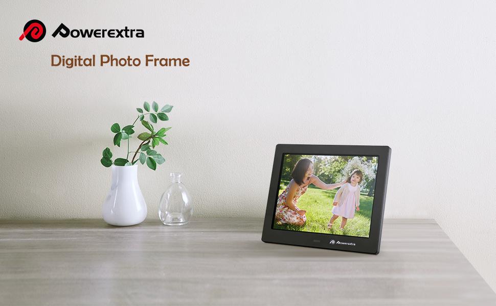 Amazon.com : Powerextra Digital Photo Frame 8 inch With Remote ...