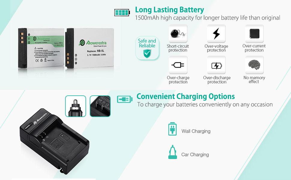 Cargador Baterías NB-5L NB5L para Canon PowerShot SX230 HS SD790 SD870