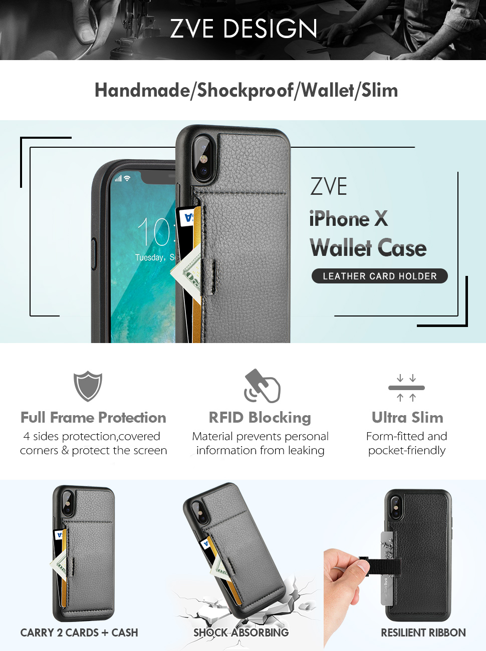 iphone x wallet case iphone x case with card. Black Bedroom Furniture Sets. Home Design Ideas
