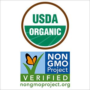 USDA Organic, Non-GMO Verified