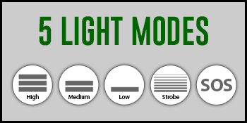 multi light mode and tactical strobe flashlight