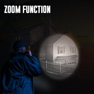 tactical flashlight zoom