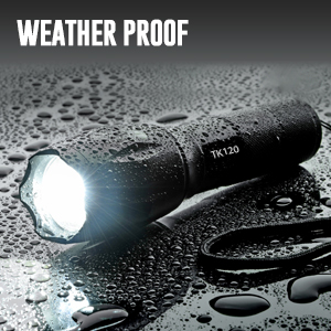 handheld flashlight water resistant