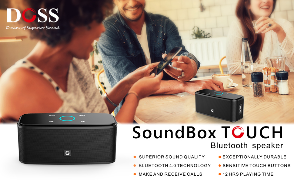 d45fa07baef Amazon.com  DOSS Touch Wireless Bluetooth V4.0 Portable Speaker with ...