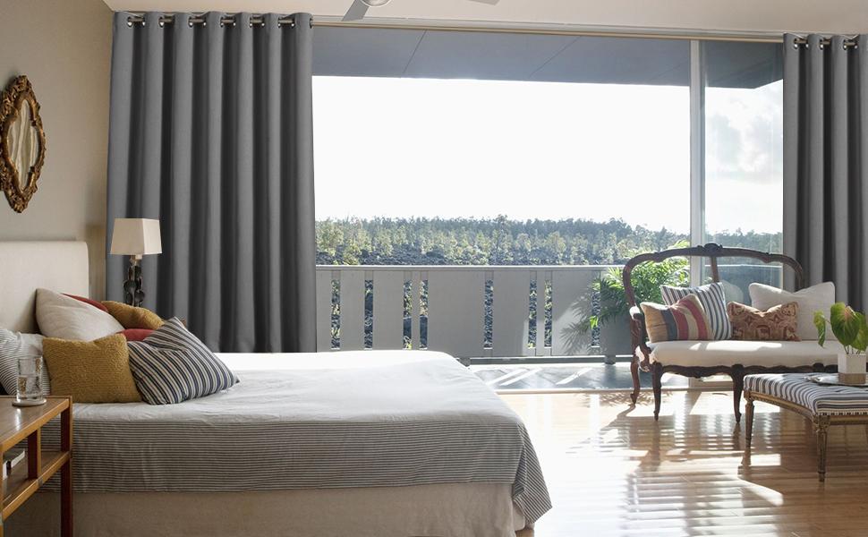 Amazon.com: NICETOWN Patio Sliding Door Curtain
