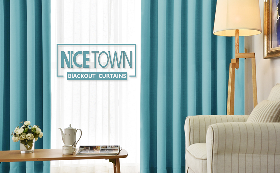 Nicetown Window Treatment Thermal Insulated Solid Grommet Room Darkening Curtains