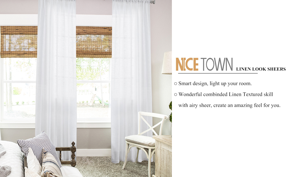Superior Textured Sheer Curtains Part - 19: Choose Our Linen Textured Look Sheer Curtains! Reduce A Part Of Strong  Sunlight And Uv Rays To Protect Your Furniture And Art Works, Decorate Your  Room Into ...
