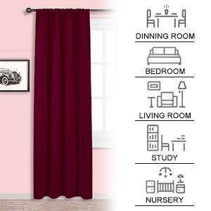 75cb3a48d7a6 Amazon.com  NICETOWN Burgundy Curtains Blackout Drapes - Home ...