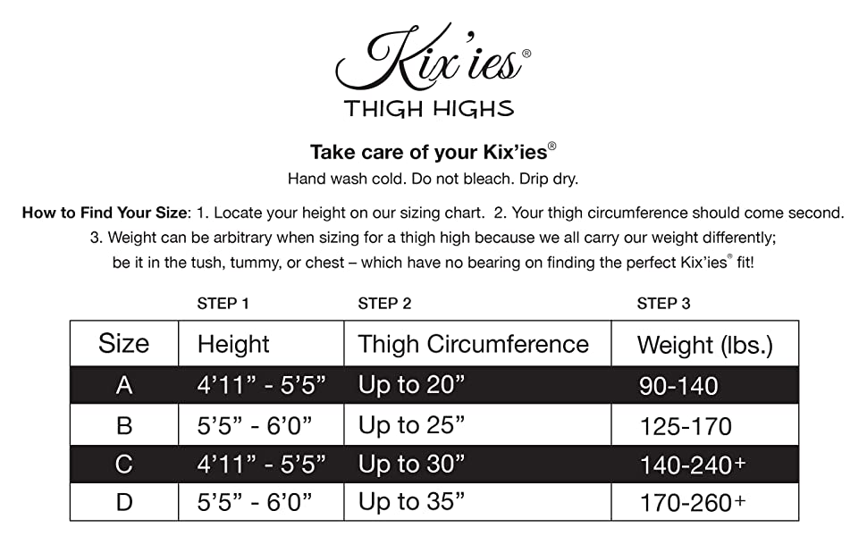 96bf22320e2ee Kix`ies Stockings For Women | Thigh High Stockings with No-Slip Grip ...