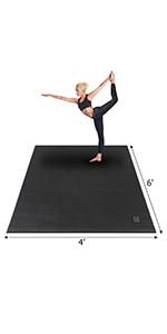 Amazon.com : GXMMAT Large Exercise Mat 6'x4'x7mm, Thick