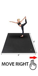 Amazon.com: Gxmmat - Esterilla de yoga grande de 72 x 48 ...