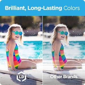 Brilliant, Long Lasting Colors