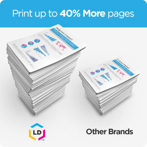 Print up to 40% more with high yield