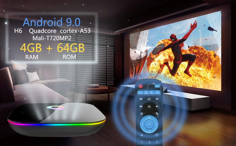 Q + 4GB 64GB Android tv box