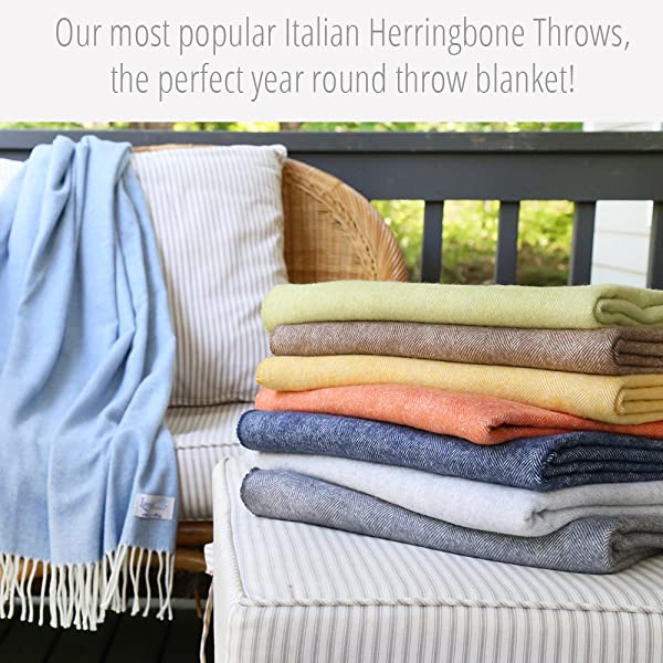 Product Description. Amazon com  Lands Downunder Denim Italian Herringbone Throw  Home