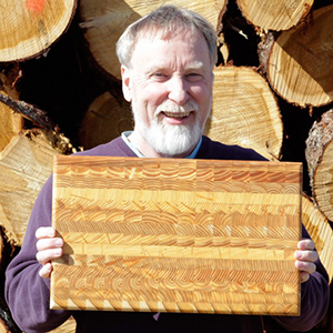 Canadian Larch logs are locally sourced and milled Don Beamish Larch Wood Enterprises Inc.