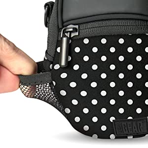 Compact Camera Bag by USA Gear with Rain Cover and Shoulder Sling Strap