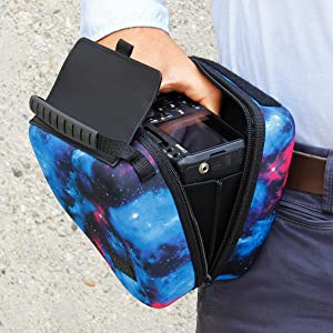 Quick Access DSLR Hard Shell Camera Case (Galaxy) w/ Molded EVA Protection and Accessory Storage