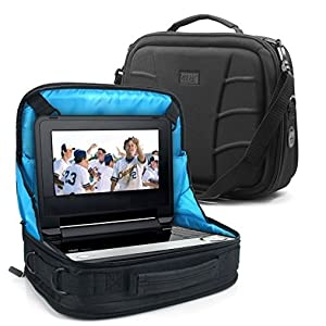 USA Gear S11 Storage Bag and In-Car Mounting Display Case for Portable DVD amp; Blu-ray Players
