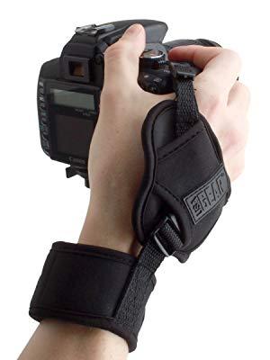 JINGZ Wrist Strap Grip PU Leather Hand Strap for SLR//DSLR Cameras Durable Color : Black