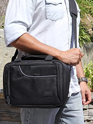 Person holding bag