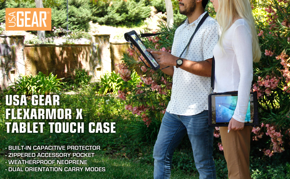 Amazon Com Usa Gear 12 Inch Tablet Case Cover Holder With
