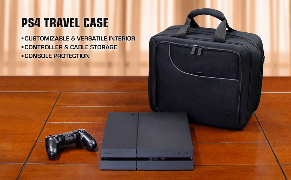 Shot of bag with PS4 and controller