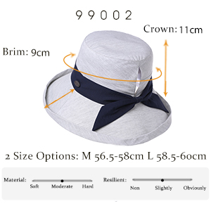 dedfb58f Large Womens Bonnie SPF Black Ponytail Hat Packable Bucket Sun Beach Hiking  Uv Protection Fishing