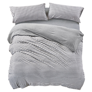 Amazon Com Pure Era Striped Duvet Cover Set Jersey Knit
