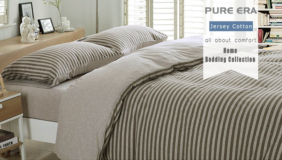 The Cotton Jersey Knit Duvet Cover From PURE ERA Brings A Relaxed, Classic  Look That Easily Complements Any Decor; Luxuriously Soft And Made Of 100%  Cotton ...