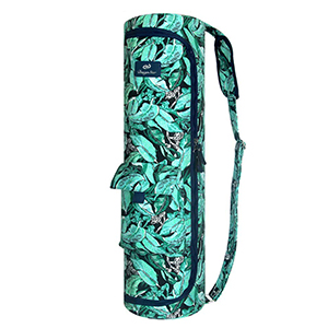 DesignSter Yoga Mat Bag - Durable Exercise Yoga Mat Carry Bag with Sturdy Canvas, Smooth Zippers, Adjustable Strap, Soft Shoulder Pad, 2 Storage ...