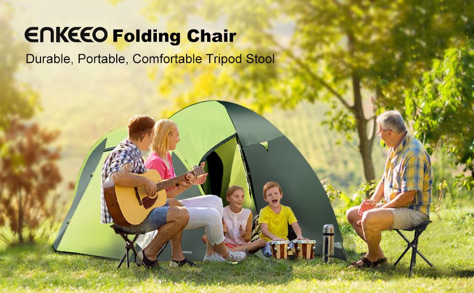 Amazon Com Enkeeo Portable Tripod Stool Folding Chair