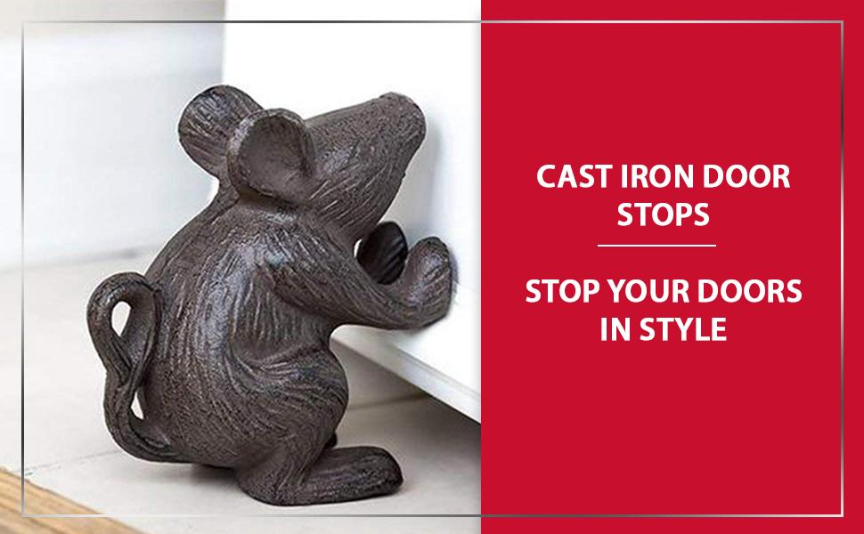 Amazon Com Cast Iron Mouse Door Stop Decorative Rustic